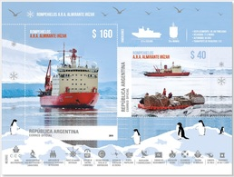 Argentine Antártida Argentina: Rompehielos Brise-glace Icebreaker ARA Alte IRIZAR Stamps Mini HB// Em. 29 De Abril 2019 - Stamps