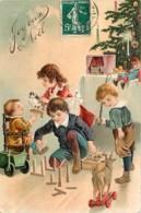 Carte Fantaisie Gaufrée , Joyeux Noel , Jeux Jouets , * 425 14 - Christmas