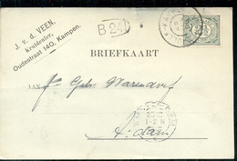 Kampen - Oudestraat - J Vd Veen Kruidenier - 1905 - 1891-1948 (Wilhelmine)