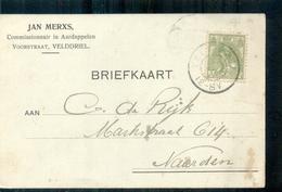 Velddriel Voorstraat Jan Merxs Commissionnair Aardappel 1918 - Lettres & Documents