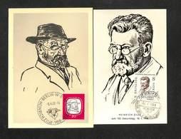 ALLEMAGNE - DDR - 2 Cartes Maximum 1958 - BERLIN W8 - HEINRICH ZILLE - Zum 100. Geburtstag - DDR
