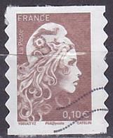 Timbre AA Oblitéré N° 1596(Yvert) France 2018 - Marianne L'Engagée 0,10 € Adhésif - 2018-... Marianne L'Engagée