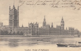 LONDON - HOUSE OF PARLAMENT, Gel.1917? - Houses Of Parliament