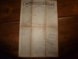 1944 Rare Journal Des étudiants Prisonniers :L' INFORMATION UNIVERSITAIRE: Début De La Fin Du Nazisme; Etc - Zeitungen