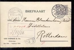 Rotterdam - Van Overzee - 1912 - Periodo 1891 – 1948 (Wilhelmina)