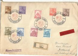 BOHEMIA Y MORAVIA TURNAU TURNOV 1941 CC CERTIFICADA EXPOSICION FILATELICA DIAMANTE DIAMOND - Bohemia Y Moravia