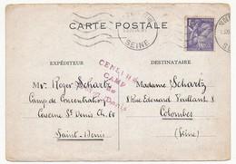 Carte Postale Du Camp De Concentration De Saint Denis (Seine) 11/13 Nov 1944 - Censure Camp De Saint Denis - Marcophilie (Lettres)