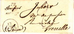 Cursive 72 Savigny Sur Orge - Collection De Seine Et Oise - 1847 - Marcophilie (Lettres)