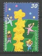 Makedonien 2000  Mi.Nr. 196 , EUROPA CEPT - Kinder Bauen Sternenturm - Postfrisch / MNH / (**) - Europa-CEPT
