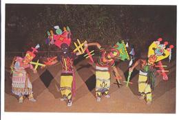 USA Apache Devil Dance Stand Rock Indian Ceremony Wisconsin River Dells Vintage Postcard - America