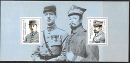 FRANCE, 2019, MNH, JOINT ISSUE WITH POLAND, WWI, DE GAULLE,  JOZEF HALLER, MILITARY, SPECIAL SHEETLET. - Emissioni Congiunte