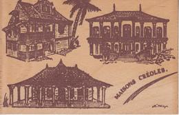 """MARTINIQUE Carte En Bois """" MAISONS CREOLES """" - Martinique"""