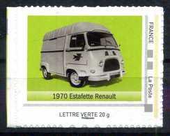 """1970 ESTAFETTE RENAULT Adhésif Neuf ** . Collector """" L'AUTOMOBILE DANS L'HISTOIRE DE LA POSTE """" - Collectors"""