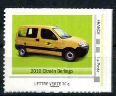 """2010 CITROEN BERLINGO Adhésif Neuf ** . Collector """" L'AUTOMOBILE DANS L'HISTOIRE DE LA POSTE """" - France"""