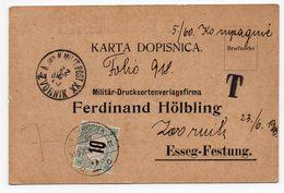 1910 BOSNIA, CROATIA,  ZVORNIK 22.06.1910, K&K MILITARY POST TO OSIJEK, POSTCARD USED - Croatia