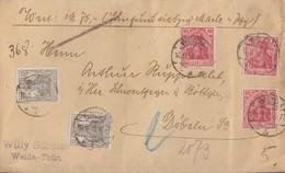 DR Wertbrief Mif Minr.3x 86II,2x 98 Weida 16.9.18 - Cartas