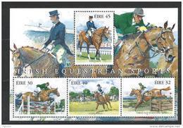 Irlande 1998 Bloc  N°28 Sports équestres, Chevaux - Blocks & Sheetlets