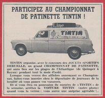 Participez Au Championnat De Patinette Tintin. 1962. - Pubblicitari