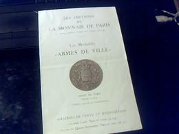 Depliant 4 Pages Les Editions De La Monnaie De Paris Les Medailles De Ville - Livres & Logiciels