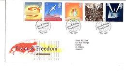 GB FDC 1995 PAIX ET LIBERTE - FOLON - Esposizioni Filateliche