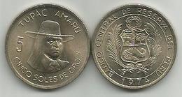 Peru 5 Soles De Oro 1974. High Grade - Peru