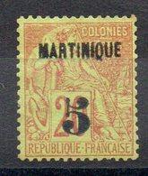 MARTINIQUE - YT N° 1  Neuf * - MH - Cote: 80,00 € - Martinique (1886-1947)