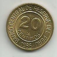 Peru 20 Centimos 1986. - Peru