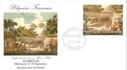 Frz. Polynesien -    AUSIPEX 84 - 1984 (FDC) - Polinesia Francesa