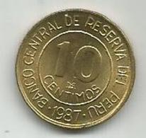 Peru 10 Centimos 1987. - Peru