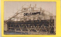 02 AISNE CARTE PHOTO CONSTRUCTION CANAL DE L'OISE A L'AISNE GUNY/PONT ST MARD/QUINCY/COUCY LE CHATEAU - France