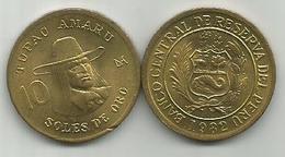 Peru 10 Soles De Oro 1982. TUPAC AMARU - Peru