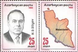 Azerbajan (Azerbaijan Azerbaïdjan) 1993. President Of Azerbaijan Haidar Aliev.  Mi# 105A-106A   MNH - Aserbaidschan
