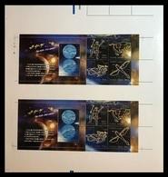 North Korea 2014 Mih. 6098/102 Space. Astronomy. Milky Way Galaxy (M/S Of 2 Booklet Sheets) MNH ** - Corea Del Norte