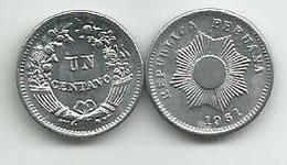 Peru 1 Un Centavo 1961. - Peru