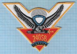 UKRAINE / Patch Abzeichen Parche Ecusson / Peacekeeping Forces 240 Separate Battalion Airborne Special Forces . - Blazoenen (textiel)
