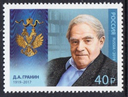 3.- RUSSIA 2019 Holders Of The Order Of St. Andrew. Daniil Granin (1919–2017), Writer - 1992-.... Federación