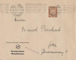 DR Brief EF Minr.355 Ludwigshafen 16.7.24 Perfins K&C - Deutschland