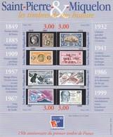SAINT PIERRE & MIQUELON  - 1999 BLOC FEUILLET PHILEXFRANCE 99 150e ANNIVERSAIRE DU PREMIER TIMBRE / 2 - St.Pierre Et Miquelon