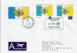 Europa 2019 Principauté D'Holkau (Forstendom Holkau) Allemagne., Lettre Adressée Principauté D'Andorre. (Variétés) - 2019