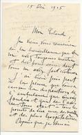Courrier De 1915 Adressé à Un Colonel Et Citant L'hôpital De Fontainebleau - Historical Documents