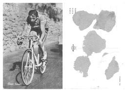 CARTE CYCLISME FAUSTO COPPI ( AL DORSO RESTO DE PEGAMENTO, VER PHOTO ANNONCE ) - Cyclisme