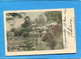JAPON-Nagasaki-- Rivière Et Moulin  à Eau-a Voyagé En 1905 - Japon