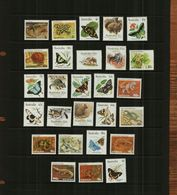 AUSTRALIA  - QE11 - 1981-83 - WILDLIFE & BUTTERFLIES - 27 Stamps - MNH - 1952-65 Elizabeth II : Pre-Decimals