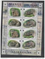 AZERBAIJAN, 2016, MNH, WWF, WILD CATS, MANUL SHEETLET OF 2  SETS - Other