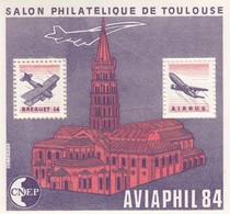 FRANCE - 1984 BLOC FEUILLET N°5   C.N.E.P. - AVIAPHIL  SALON PHILATELIQUE DE TOULOUSE  / 2 - CNEP