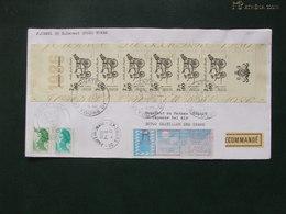 France 1986 - Carnet Journée Du Timbre 1986 Sur Lettre Recommandée - Postzegelboekjes
