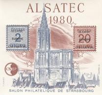 FRANCE - 1980 BLOC FEUILLET N°1   C.N.E.P. - ALSATEC -  SALON PHILATELIQUE DE STRASBOURG  / 2 - CNEP