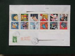 France 1988 - Carnet La Communication 12 Timbres Sur Lettre Recommandée - Postzegelboekjes