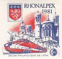 FRANCE - 1981 BLOC FEUILLET N°2   C.N.E.P. - RHONALPEX-  SALON PHILATELIQUE DE LYON  / 2 - CNEP