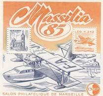 FRANCE - 1985 BLOC FEUILLET N°6   C.N.E.P. - MASSILIA-  SALON PHILATELIQUE DE LYON  / 2 - CNEP